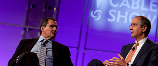 Brian Roberts and Peter Chernin at The Cable Show