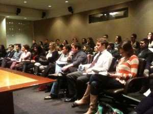 Audience at the JHRTS NY event with Doug Herzog