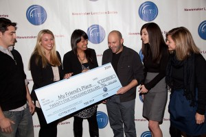 JHRTS presents a check for $25,000 to My Friend's Place