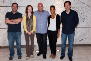 Jeff Kline, Darlene Hunt, Nick Pepper, Mara Brock Akil, and Bob Daily at the JHRTS Creating Scripted Television panel
