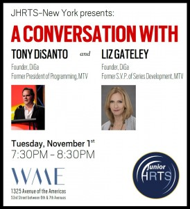 JHRTS NY presents: A Conversation with Tony DiSanto and Liz Gateley