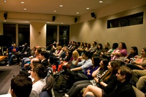 The audience at JHRTS NY: A Conversation with Tony DiSanto and Liz Gateley