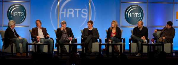 Panelists on stage for the HRTS Newsmaker Luncheon - The Hitmakers 2012