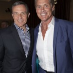 Robert Iger and David Hasselhoff